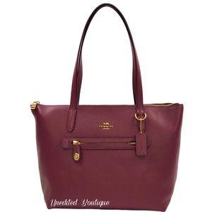 COACH Taylor Leather Tote Handbag In Mauve